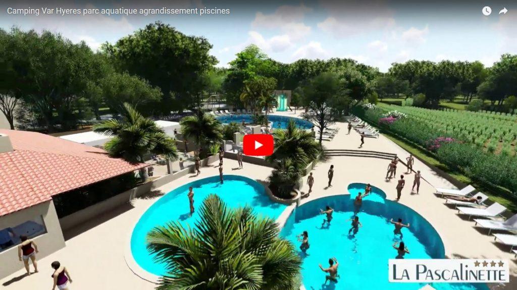 Camping Var Hyeres parc aquatique agrandissement piscines