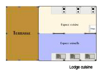 Lay-out Le Coin des Copains® Glamping!