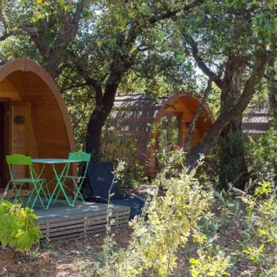 Houten chalets Le Coin des Copains® Glamping