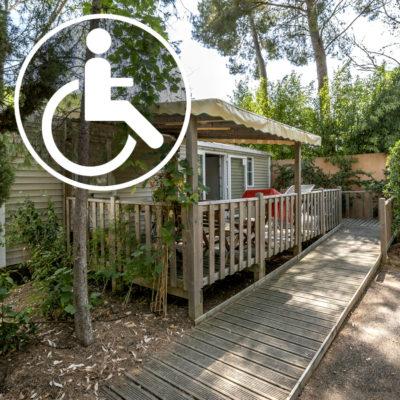 Camping geschikt voor mindervaliden in La Londe les Maures.