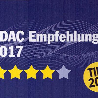 Nieuwe notering in de ADAC: de camping onderscheiden
