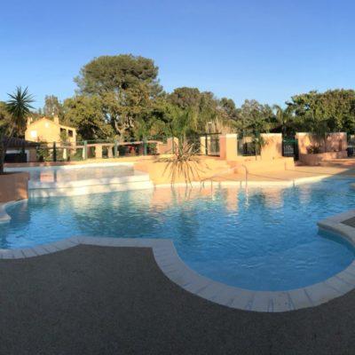 Het waterpark / parc aquatique van de camping: zwembaden 2017