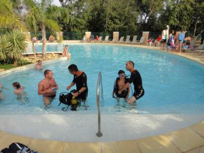La Londe-les-Maures verwarmd zwembad Animatie doopduiken