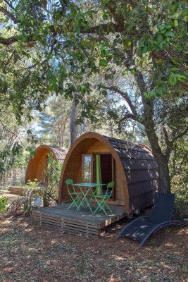 Camping aan de Côte d'Azur pods natuur familie
