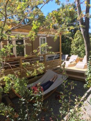 Hangmat bij premium stacaravan aan de Côte d'Azur