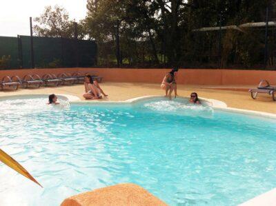 Verwarmd zwembad Solarium Spa Jacuzzi