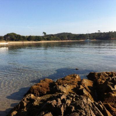Het strand van Léoube