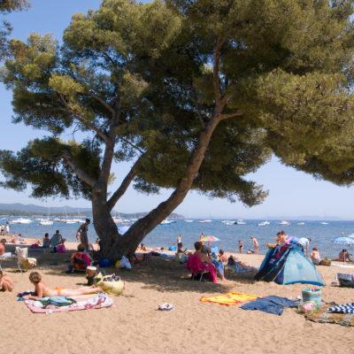 Het strand van L'Argentière
