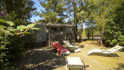 Stacaravan super luxe op 4 sterren camping aan de Côte Azur