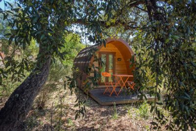 Côte d'Azur camping voordelig pods vakantie natuur
