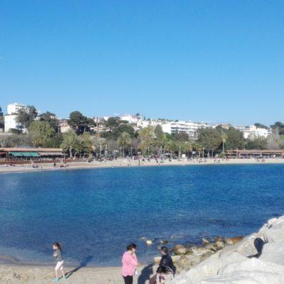 De stranden van Le Mourillon