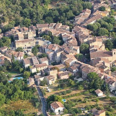 Het dorp Correns