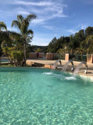 Aquatic complex Bormes-les-Mimosas verwarmd zwembad Massage douche