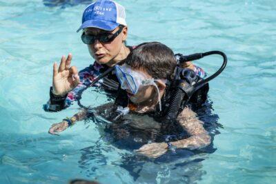 Zwembad Duiken doopsel familie vakanties