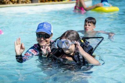 Camping verwarmd zwembad Duiken kinderen