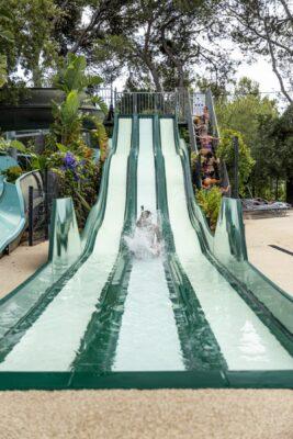 Bormes-les-Mimosas Waterpark Waterglijbaan Vakantie water spelletjes