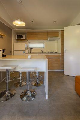 Moderne keuken in VIP stacaravan