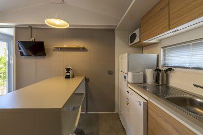 Keuken in VIP stacaravan