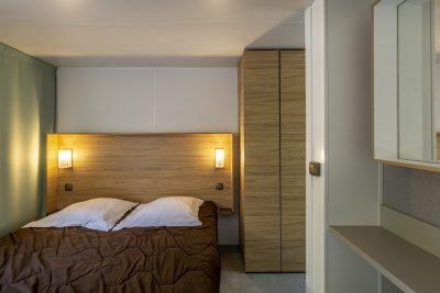 Luxe stacaravan met master bedroom